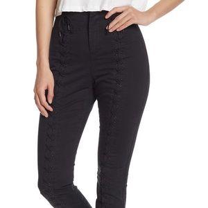 A.L.C black Kerrigan Lace-Up Skinny Leg Pants NWT